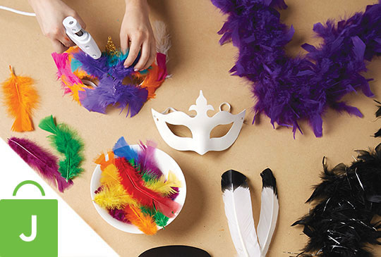 Boas, Feathers and Masks.