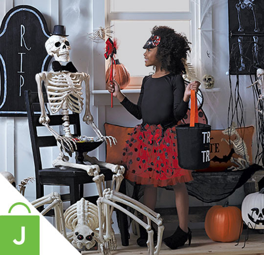 Halloween Outdoor Decor and The Boneyard Skeleton Collection.