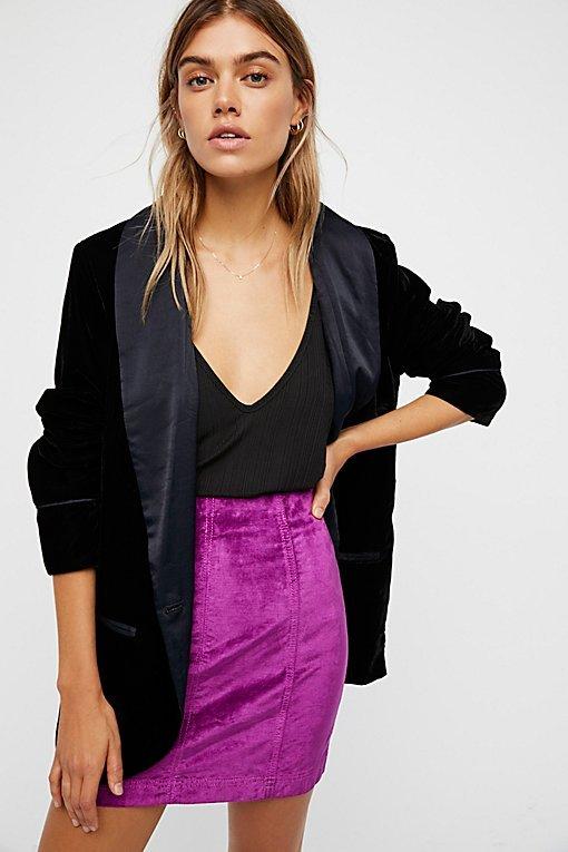 Modern Femme Velvet Mini Skirt