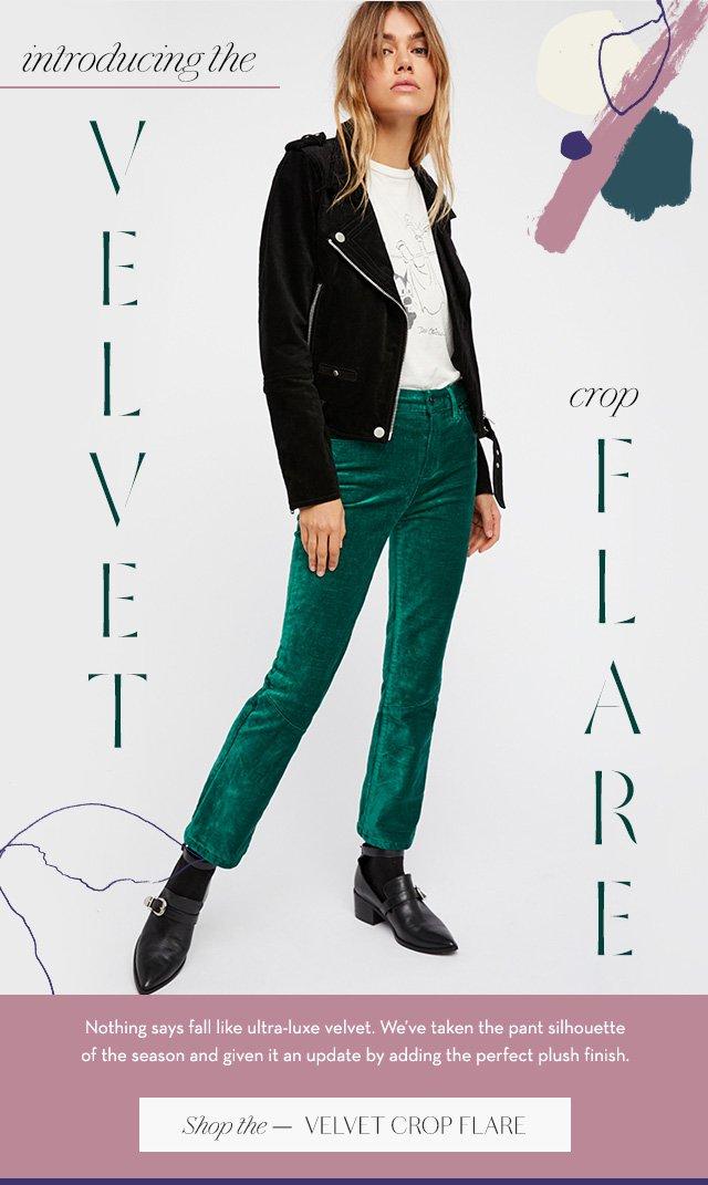 Shop the Velvet Crop Flare