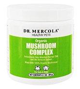 Dr. Mercola Premium Supplements - Organic Mushroom Complex For Pets - 2.1 oz.