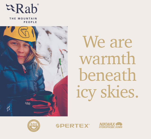 Rab - We are warmth beneath icy skies