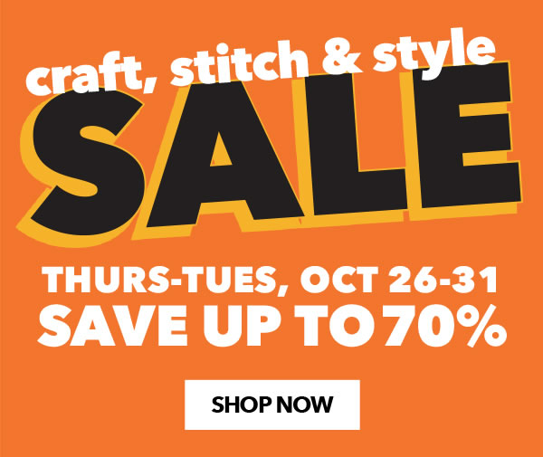 Craft, Stitch and Style Sale.