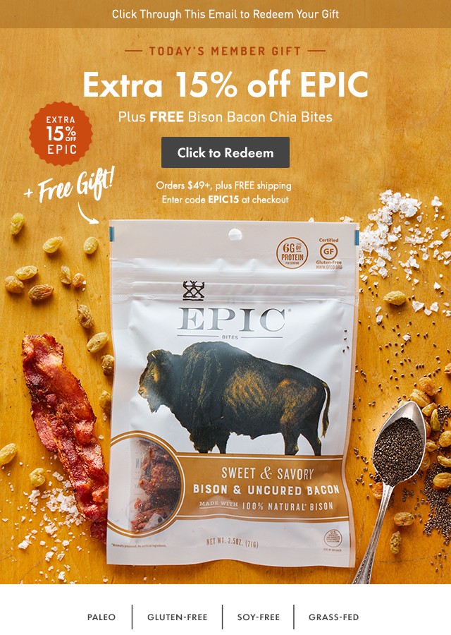 Thrive Market: This is EPIC: Extra 15% off + a FREE gift | Milled