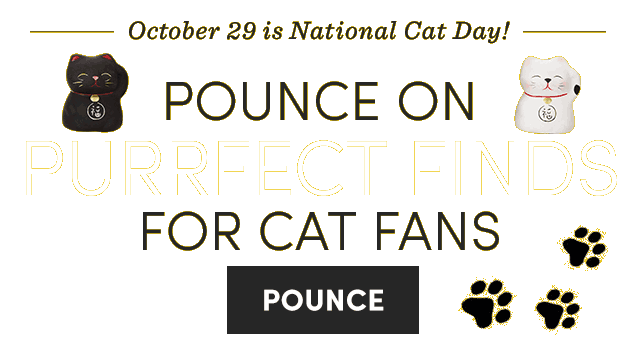 10/29 Is National Cat Day! Pounce On Purrfect Finds For Cat Fans. Pounce ›