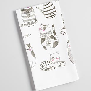 French Cats Kitchen Towel ›