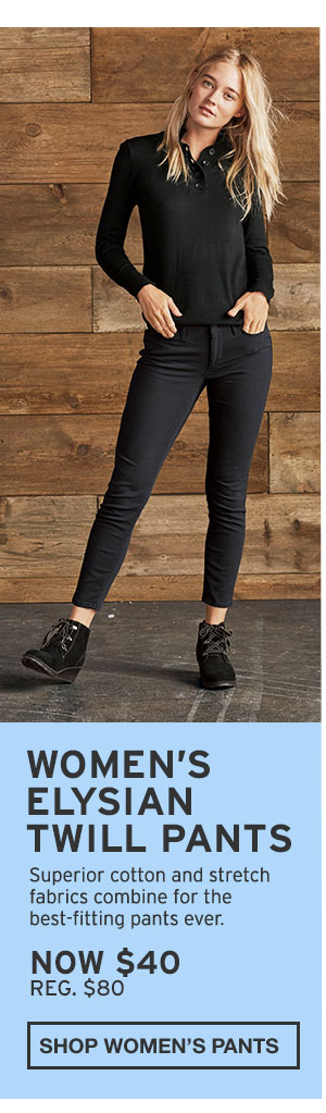 WOMEN'S ELYSIAN TWILL PANTS | SHOP WOMEN'S PANTS