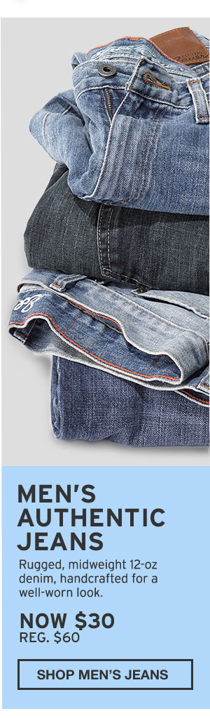 MEN'S AUTHENTIC JEANS | SHOP MEN'S JEANS