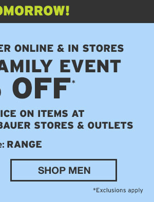 FRIENDS AND FAMILY EVENT 50% OFF | SHOP MEN