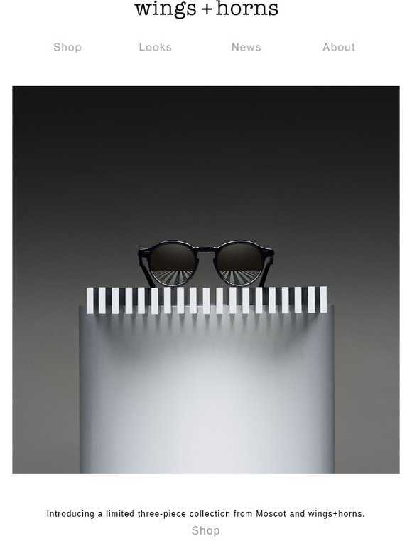 2763c35cd7a08 wings + horns  MOSCOT x wings+horns