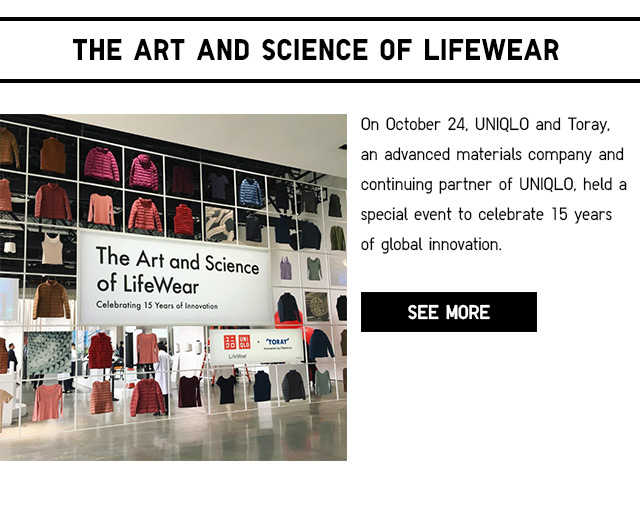 THE ART AND SCIENCE OF LIFEWEAR - LEARN MORE