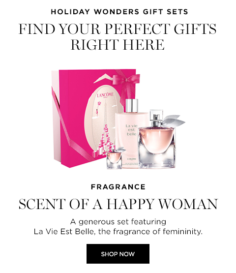 HOLIDAY WONDERS GIFT SETS FIND YOUR PERFECT GIFTS RIGHT HERE | FRAGRANCE SCENT OF A HAPPY WOMAN - SHOP NOW