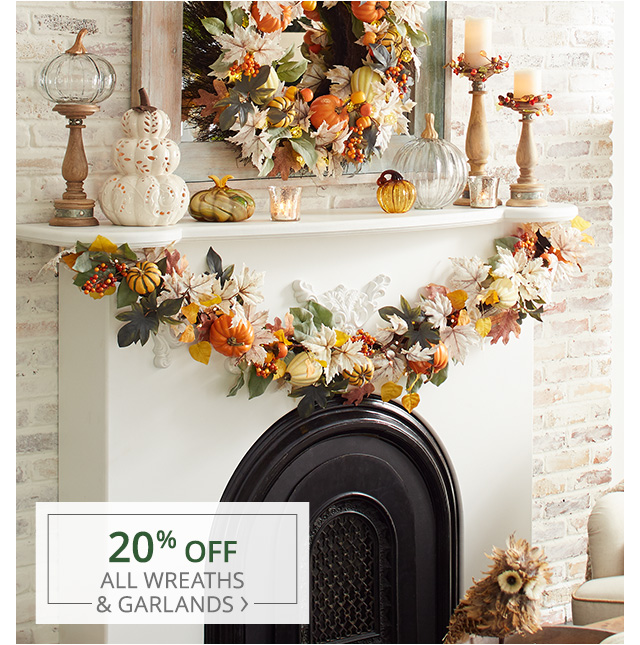 Now through November 12th, Over 150 wreaths & garlands on sale.