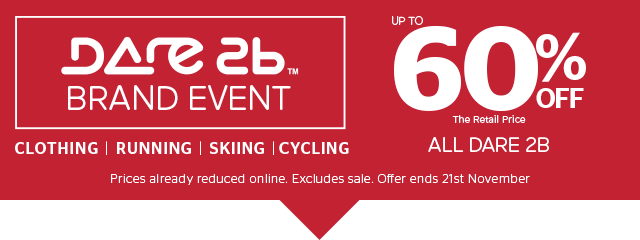 Dare2b Brand Event - up to 60% off the Retail Price