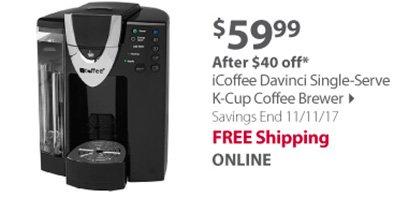 iCoffee DaVinci Single Serve K-Cup Coffee Brewer