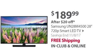 Samsung UN28M4500 28 720p Smart LED TV