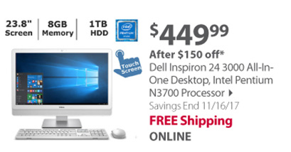 Dell Inspiron 24 3000 All-In-One Desktop