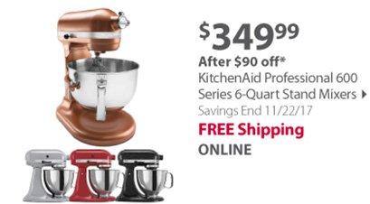 KitchenAid Professional 600 6-Qt. Bowl-Lift Stand Mixer