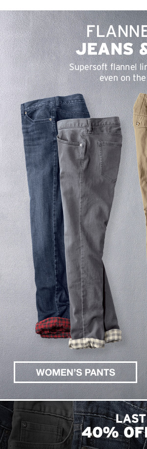 FLANNEL-LINED JEANS & CHINOS | WOMEN'S PANTS