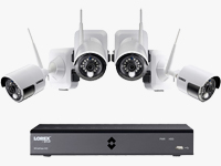 6-Channel HD DVR Packaged with 4 HD Wire-Free Security Cameras