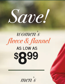 Women's Fleece & Flannel Sale!