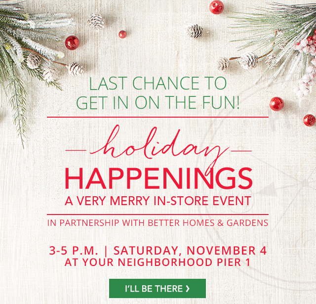 Holiday Happenings. I'll be there.