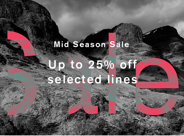 Mid Season Sale - Up to 25% off Selected Styles
