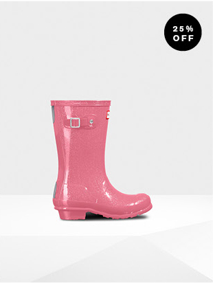 KID'S GLITTER FINISH RAIN BOOTS