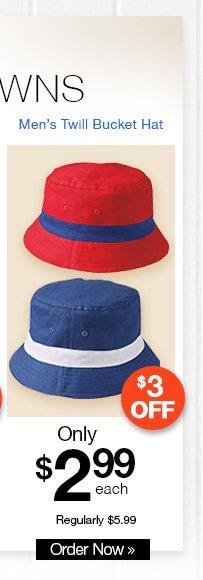 Men's Twill Bucket Hat