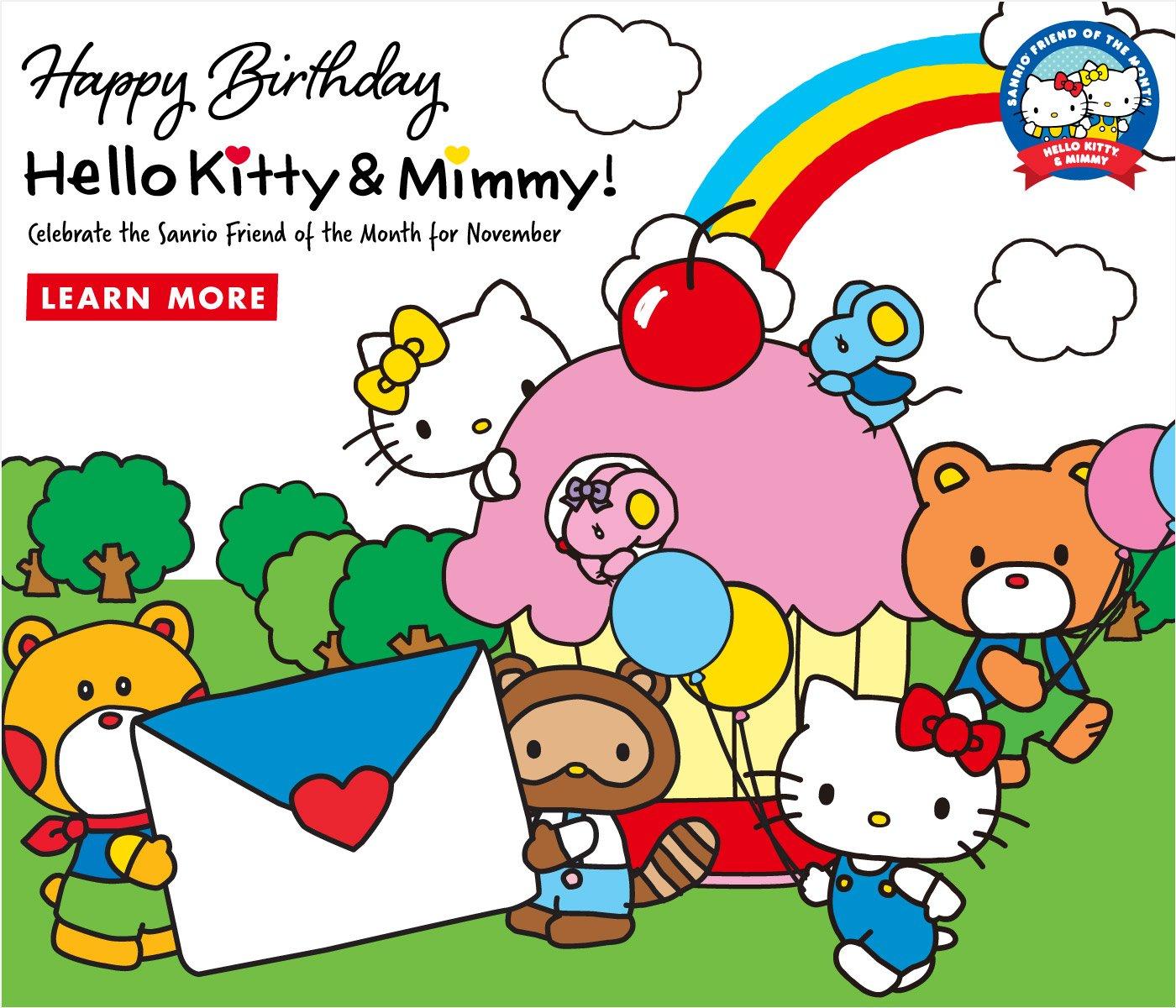hello kitty happy birthday hello kitty mimmy milled