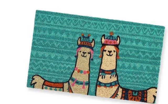 Llama Coir Doormat ›