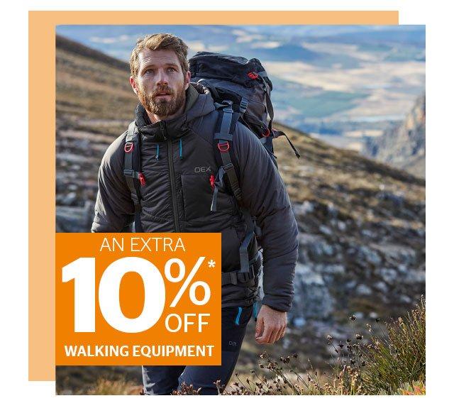 An Extra 10% Off Walking Equipment