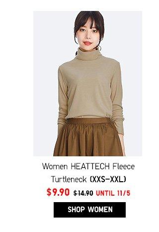 Women HEATTECH Fleece Turtleneck NOW $9.90- Shop Women