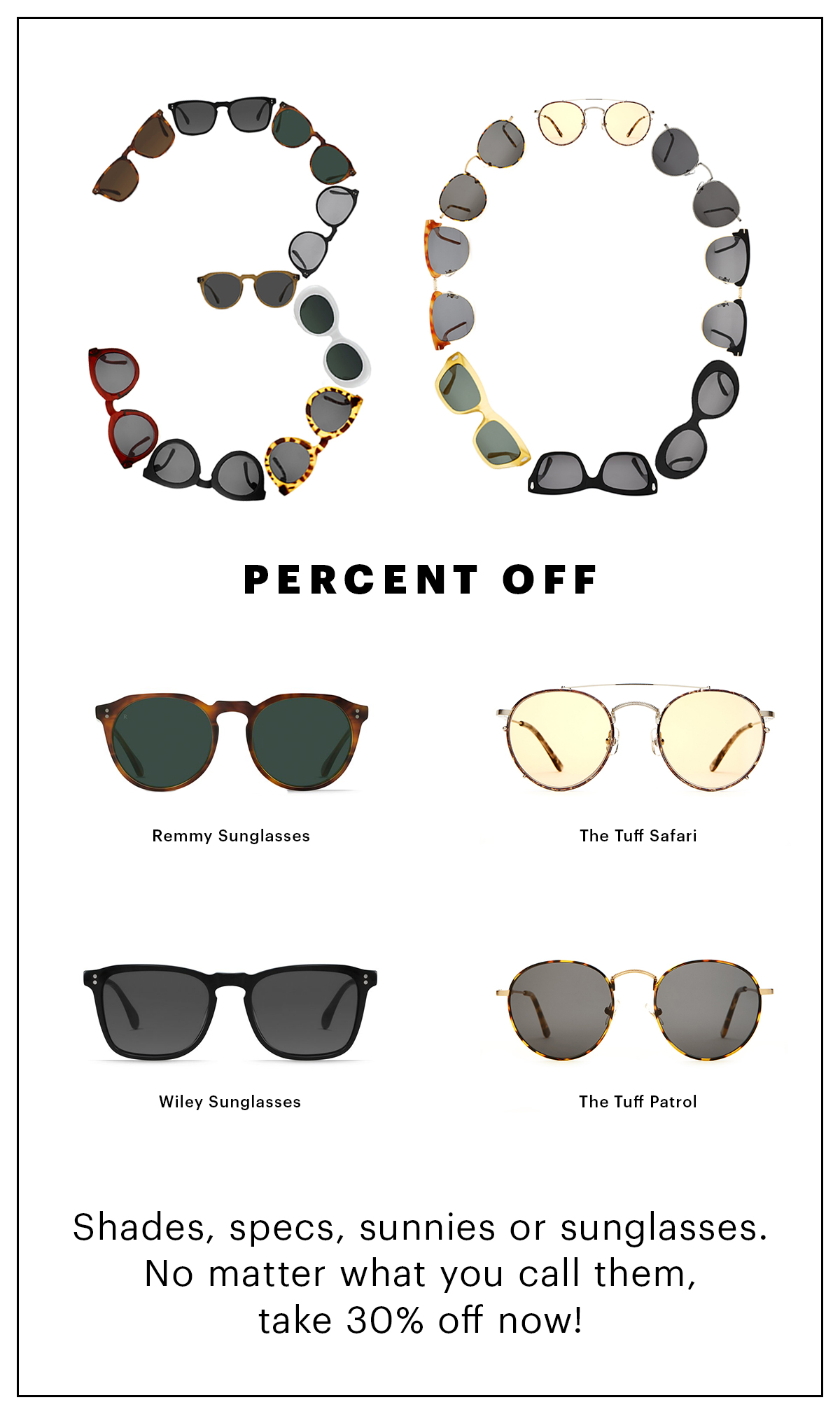 30% Off Sunglass Sale