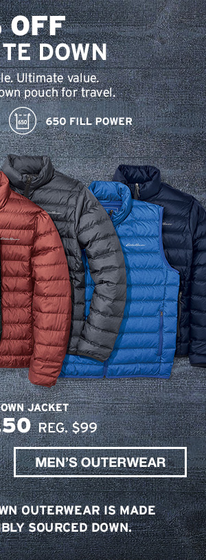 50% OFF CIRRUSLITE DOWN | MEN'S OUTERWEAR