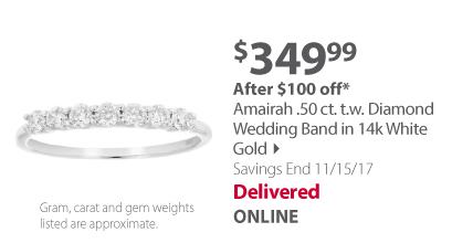 Amairah .50. ct. t.w. Diamond Wedding Band in 14k White Gold