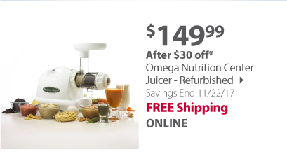 Refurbished Omega Nutrition Center Juicer