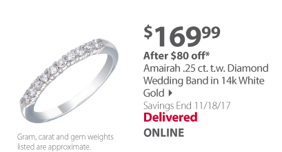 Amairah .25 ct. t.w. Diamond Wedding Band in 14k White Gold