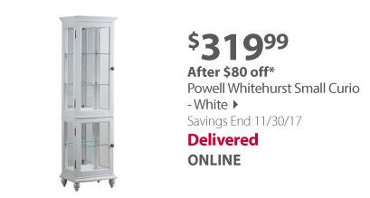 Powell Whitehurst Small Curio - White