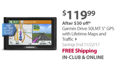 Garmin Drive 50LMT 5' GPS with Lifetime Maps and Traffic