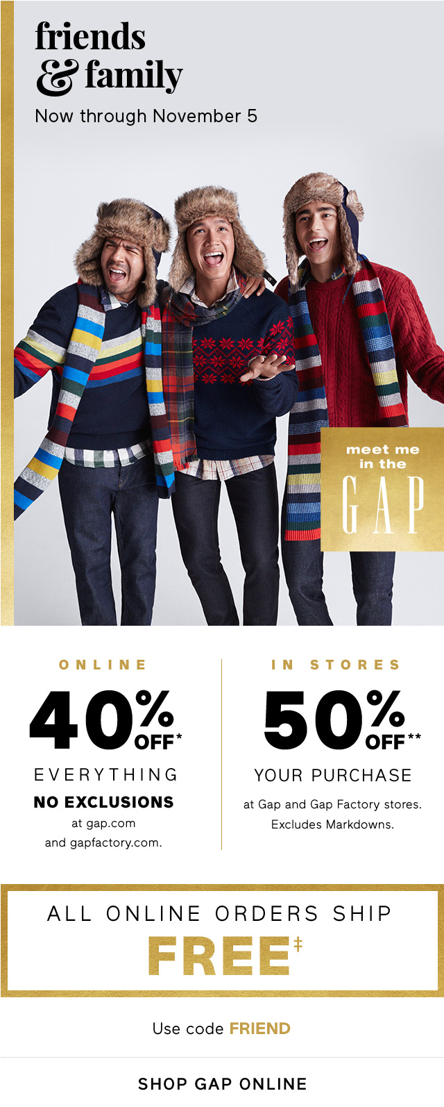 friends & family | SHOP GAP ONLINE