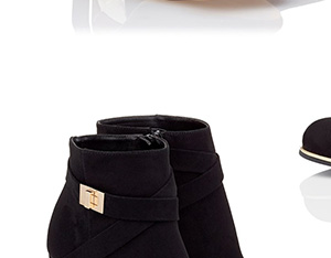 LIPSY LOCK DETAIL ANKLE BOOTS