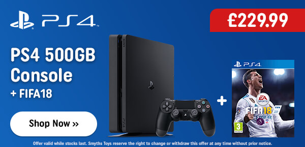 PS4 500GB Console & FIFA 18 Bundle