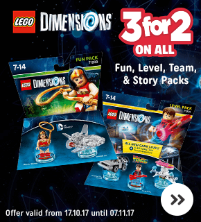 LEGO Dimensions 3 for 2 on All Level, Team, Story & Fun Packs