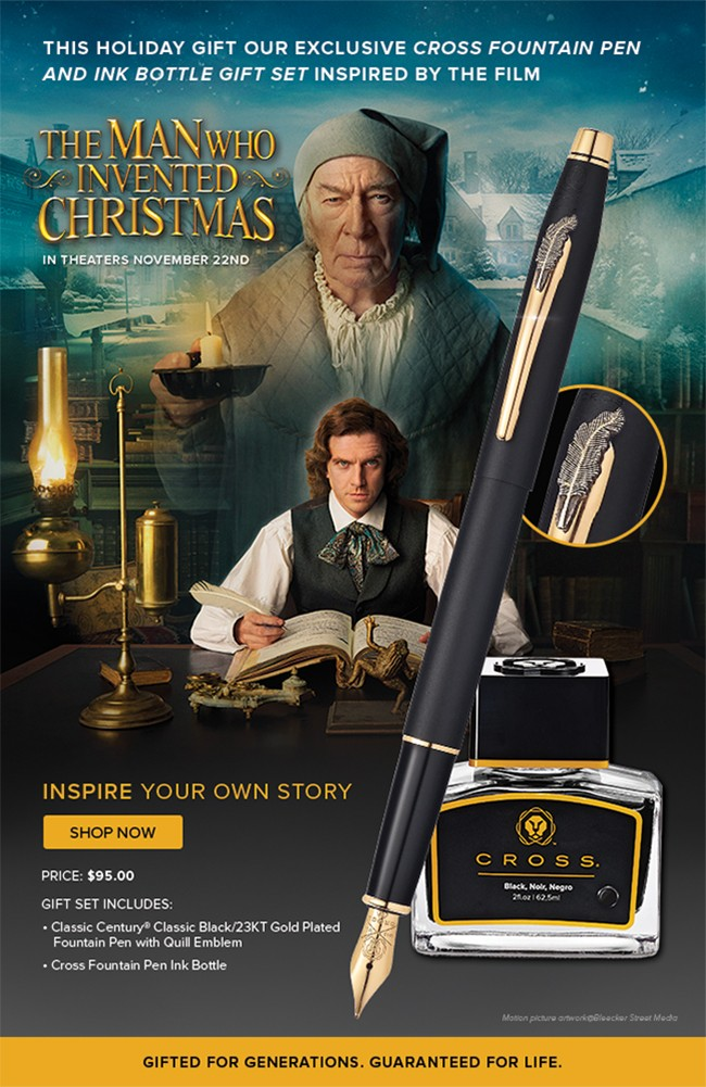 The Man Who Invented Christmas 2017.Cross Pre Order Now Inspired By The Film The Man Who