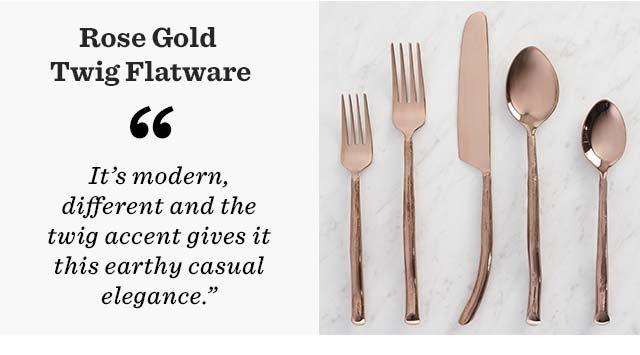 Rose Gold Twig Flatware ›