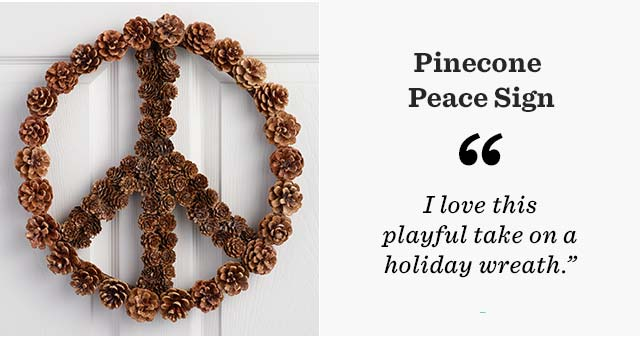 Pinecone Peace Sign ›
