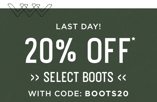 Last Day with Code: BOOTS20