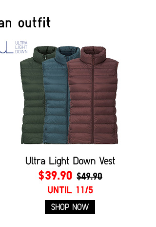 Women Ultra Light Down Vest $39.90 - Shop Now