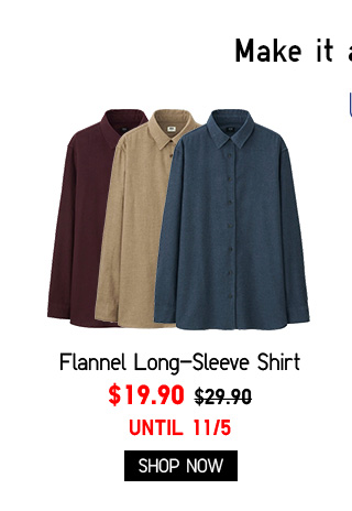 Women Flannel Long-Sleeve Shirt $19.90 - Shop Now